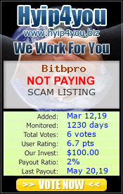 Monitored by hyip4you.biz